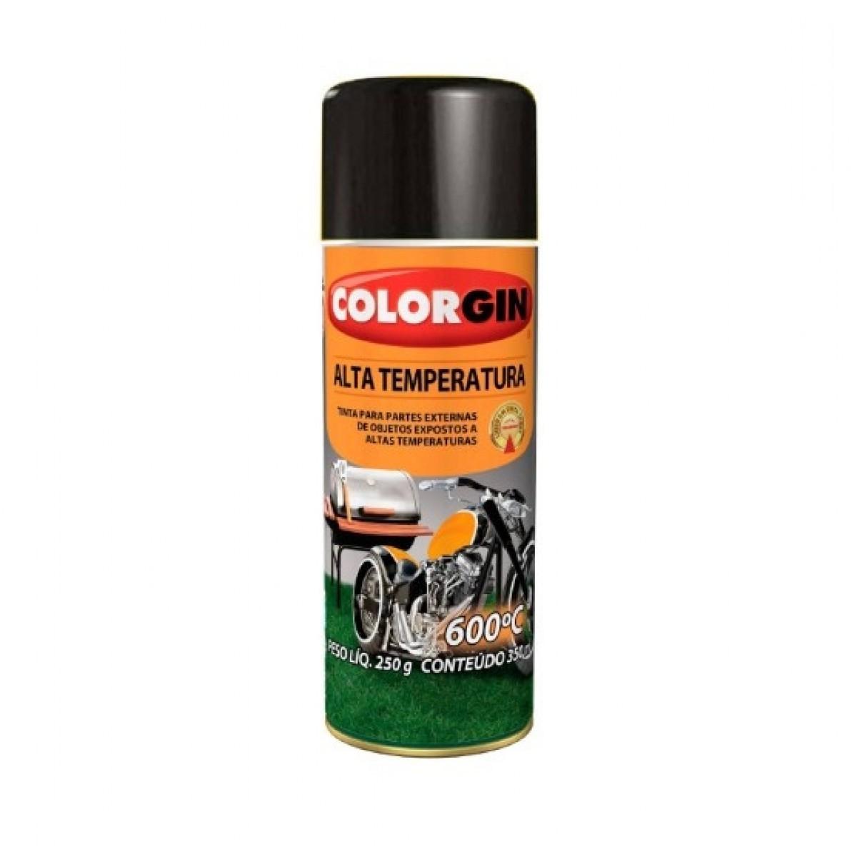 Tinta Spray Alta Temperatura Preto Brilhante
