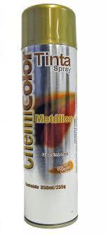 Tinta Spray Dourada Metálico