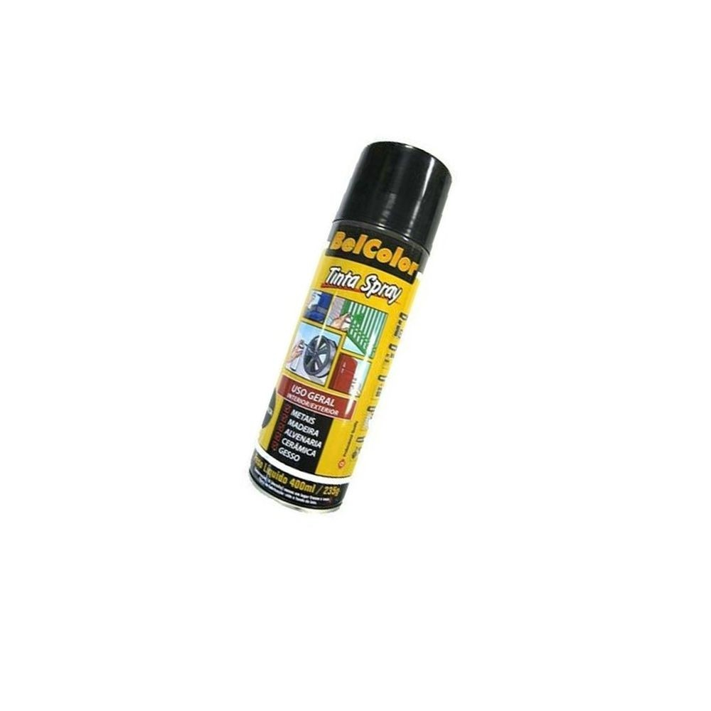Tinta Spray Preto Fosco