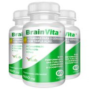 Brainvita - 03 Frascos - 03 Meses de Tratamento