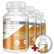 O17 - Ômega 3 - 5 frascos - 10 Meses de Tratamento