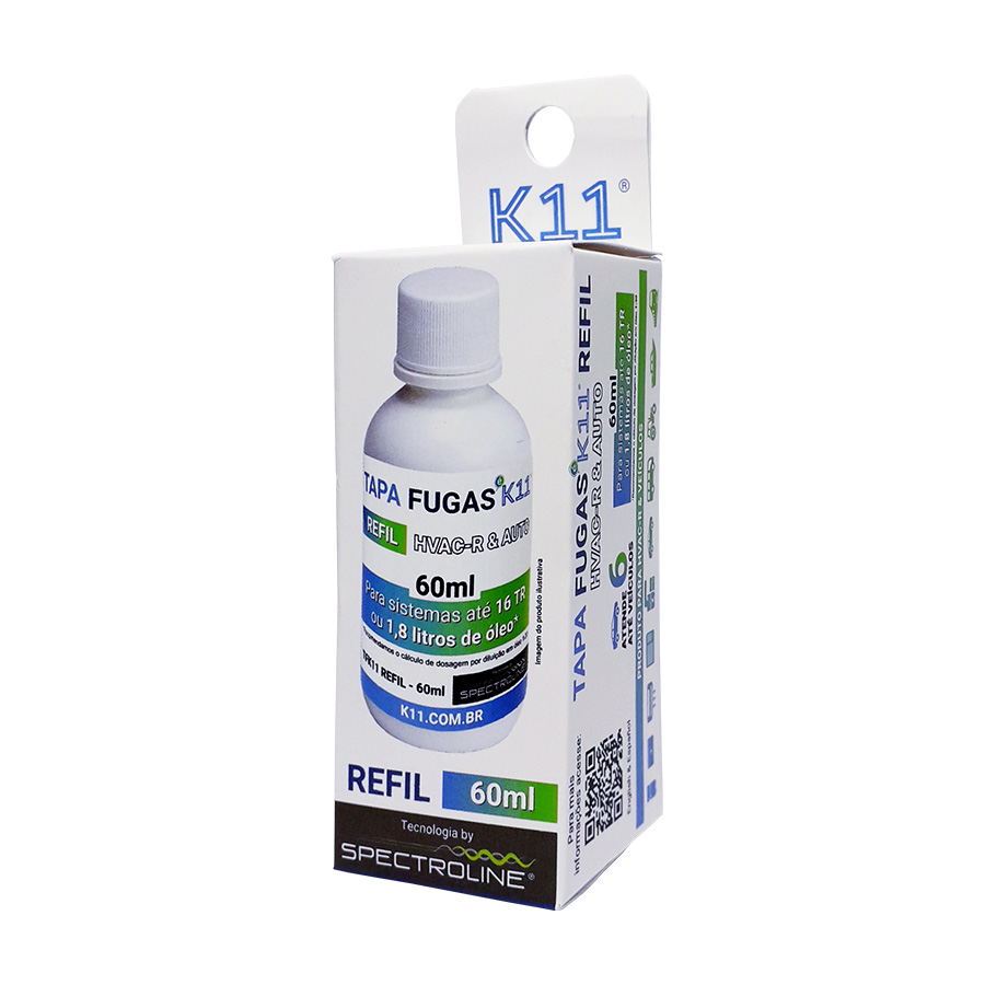 Kit TAPA FUGAS K11 REFIL 60ml + SERINGA 10ml + Conector SERINGA F1/4 SAE