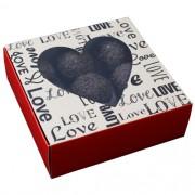 CAIXA GAVETA C/ VISOR LOVE RED 10 UND IDEIA EMBALAGENS