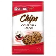 CHIPS COBERTURA AO LEITE 1,01KG SICAO