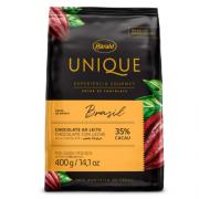 CHOCOLATE AO LEITE 35% CACAU UNIQUE 400G HARALD