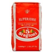 FARINHA DE TRIGO SUPERIORE TIPO 00 1KG LE 5 STAGIONI