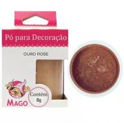 PÓ PARA DECORAÇÃO OURO ROSE 8G MAGO