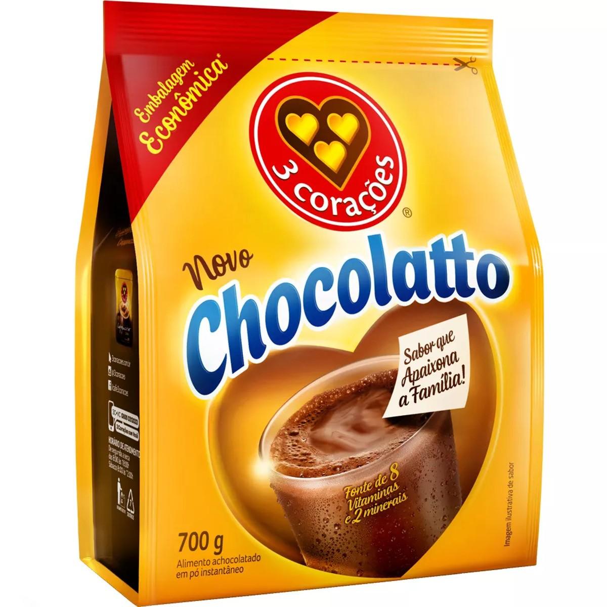ACHOCOLATADO CHOCOLATTO 3 CORAÇÕES 700G