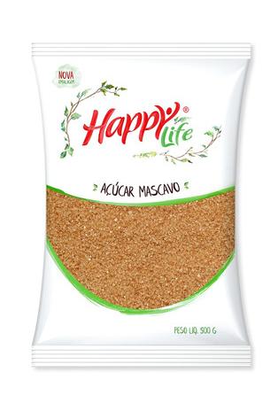 ACUCAR MASCAVO HAPPY LIFE 500G