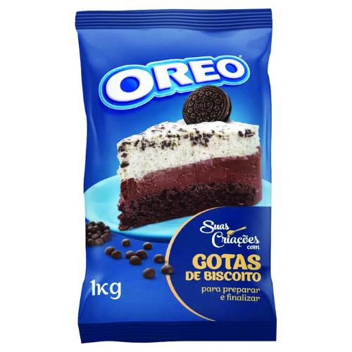 BISCOITO OREO EM GOTAS SABOR CHOCOLATE 1KG