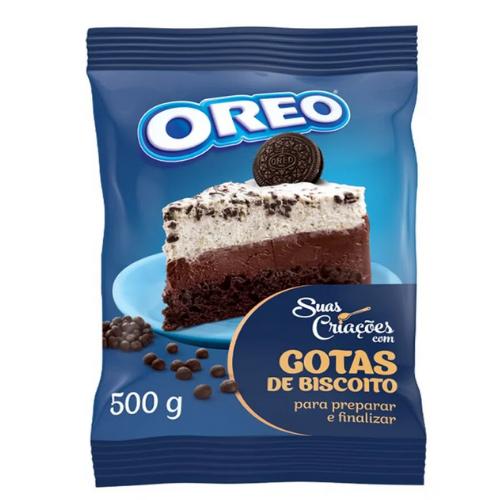 BISCOITO OREO EM GOTAS SABOR CHOCOLATE 500G
