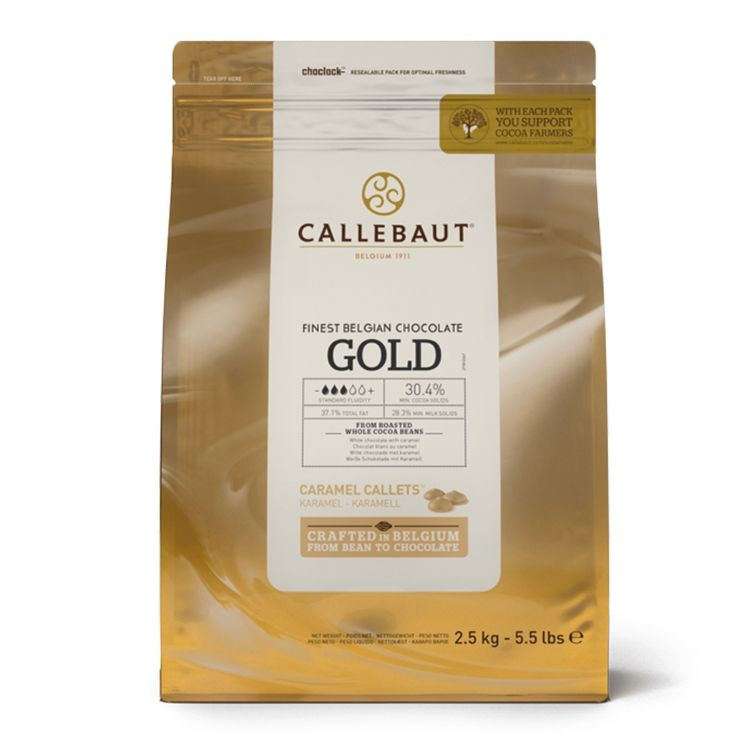 CALLEBAUT CHOCOLATE BRANCO COM CARAMELO GOLD 2,5KG