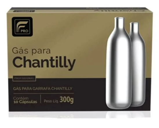 CAPSULA GÁS P/ CHANTILLY C/10PCS PRO