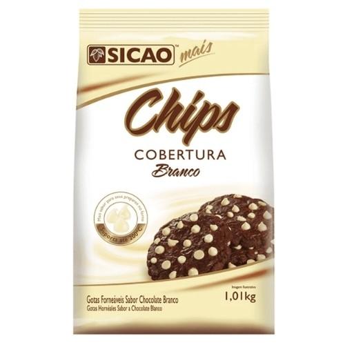 CHIPS COBERTURA BRANCA 1,01KG SICAO