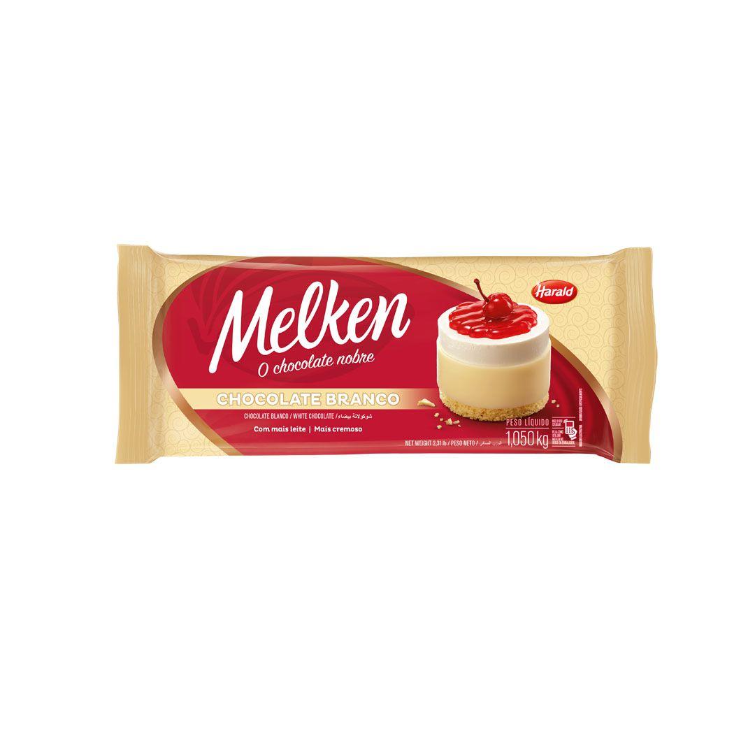 CHOCOLATE MELKEN BRANCO 1,050KG HARALD