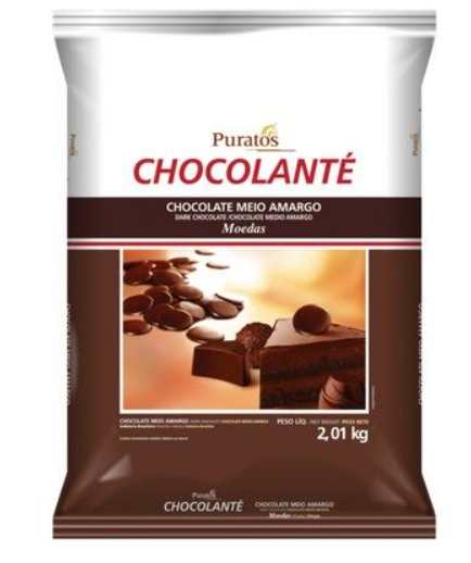 CHOCOLANTE MEIO AMARGO MOEDAS 2,01KG