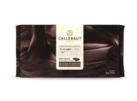 CHOCOLATE BELGA AMARGO 70-30-38 (70,5% CACAU) - BARRA 5KG CALLEBAUT