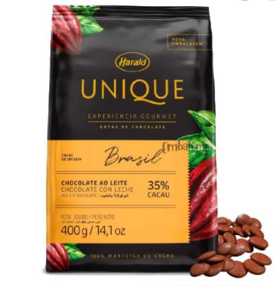 CHOCOLATE EM GOTAS BRASIL 35% UNIQUE 400G