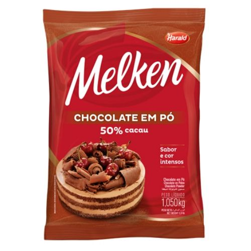 CHOCOLATE EM PÓ 50% HARALD 1,05KG