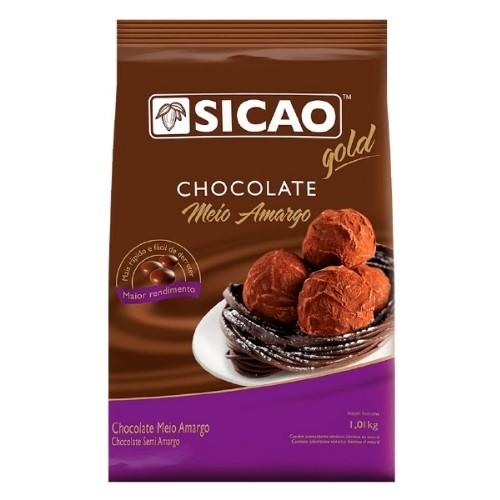 CHOCOLATE MEIO AMARGO GOTAS 1,01KG
