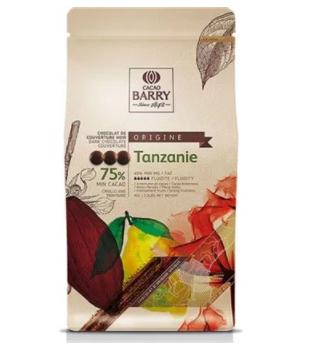 CHOCOLATE ORIGENS CACAO BARRY AMARGO TANZANIE (75% CACAU) - GOTAS 1KG CALLEBAUT