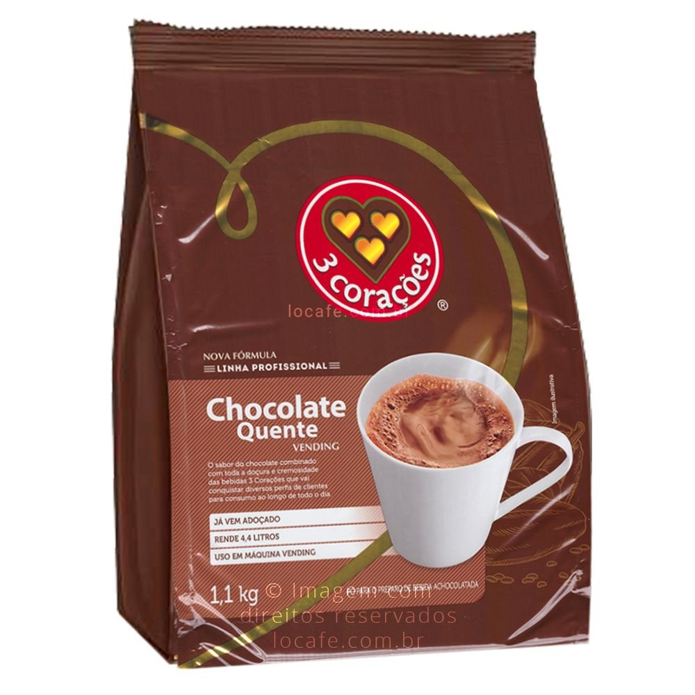 CHOCOLATE QUENTE 1,1 KG TRÊS CORAÇÕES