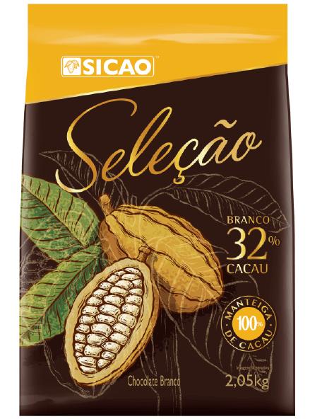 CHOCOLATE SELEÇÃO BRANCO (32% CACAU) - GOTAS 2,05KG SICAO