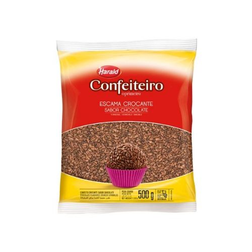 ESCAMAS CROCANTES SABOR CHOCOLATE 500G HARALD