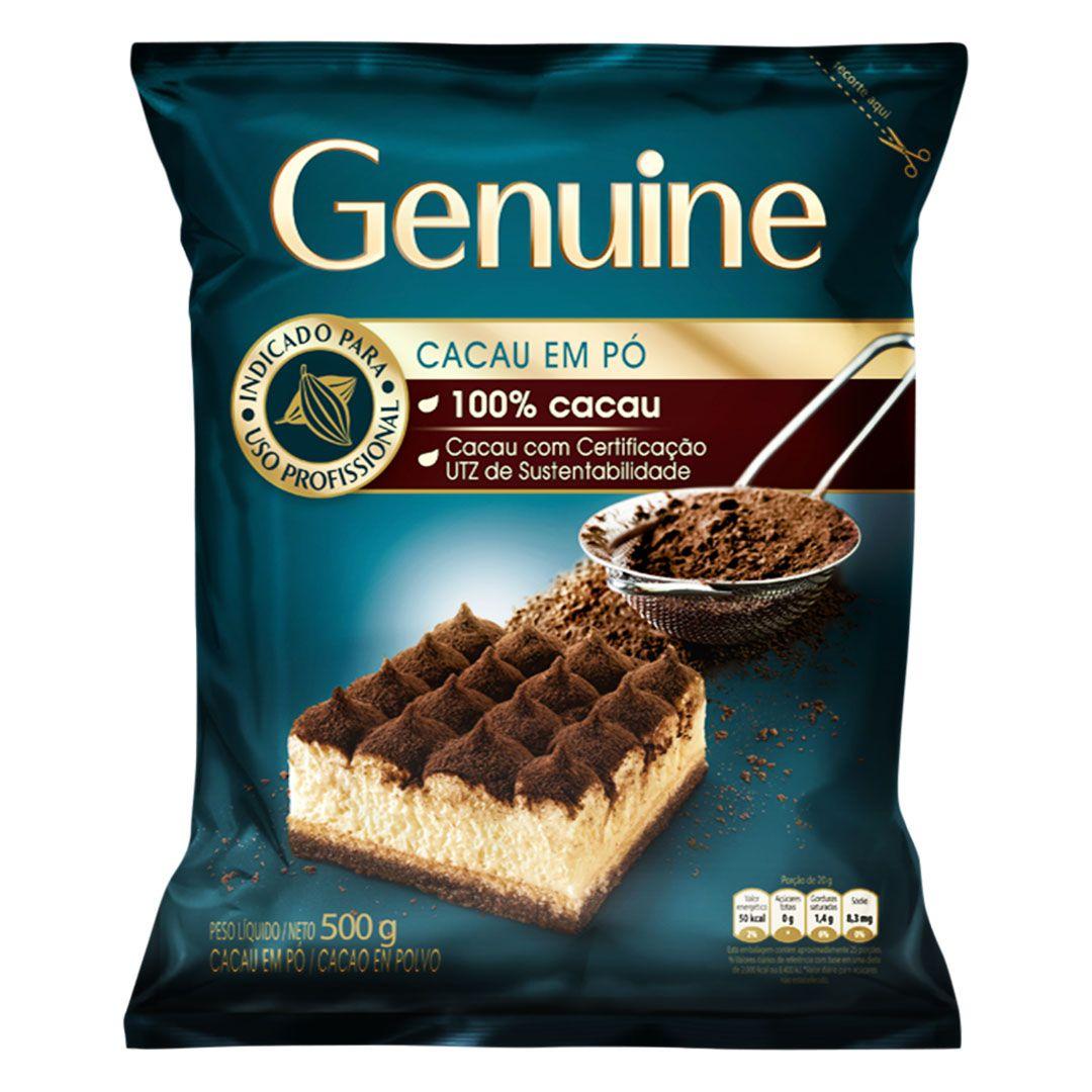 GENUINE CACAU EM PO 100% 500G