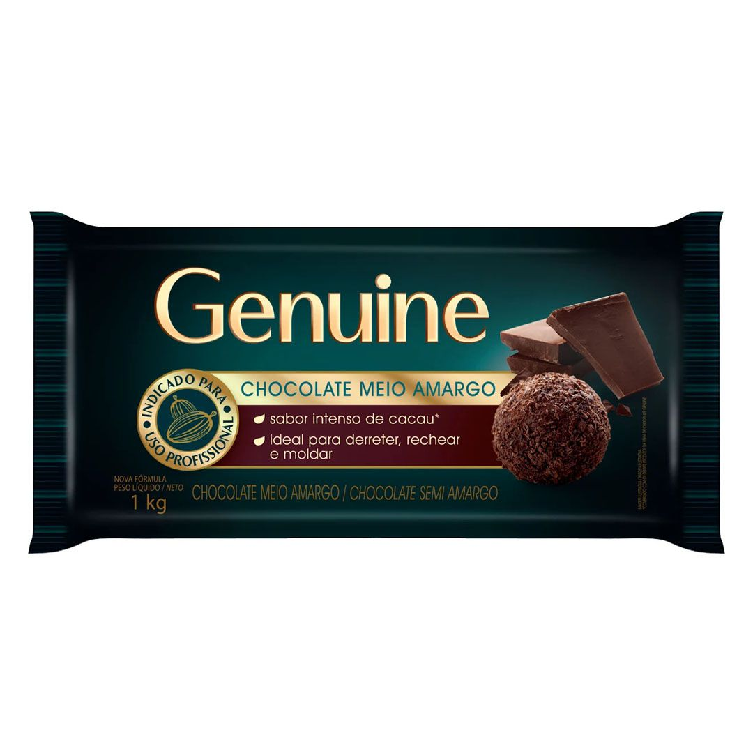 GENUINE CHOCOLATE MEIO AMARGO 1 KG