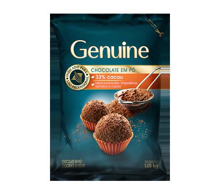 GENUINE CHOCOLATE EM PÓ 33% 1,05KG