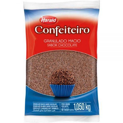 GRANULADO MACIO SABOR CHOCOLATE HARALD 1,050KG