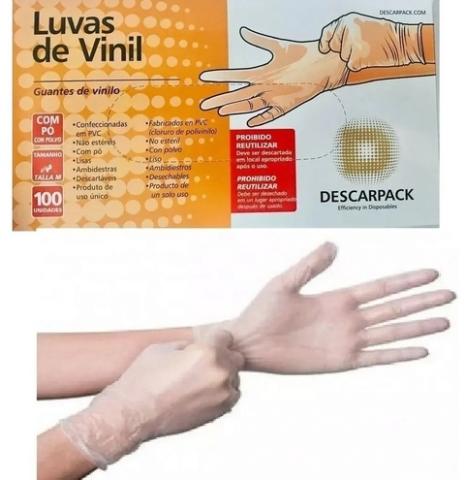 LUVAS DE VINIL 100UNID