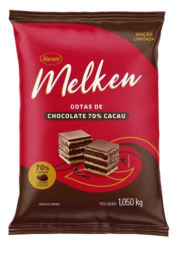 MELKEN CHOC GOTAS 70% 1,05KG
