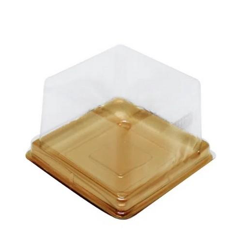 MINI CAKE BOX QUADRADA OURO 10 UND FLIP