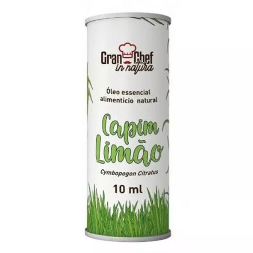 OLEO ESSENCIAL NATURAL CAPIM LIMÃO GRAN CHEF 10 ML
