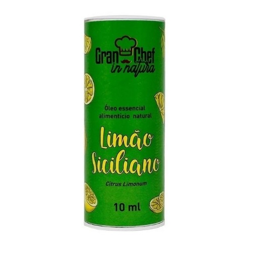OLEO ESSENCIAL NATURAL LIMÃO SICILIANO 10ML GRANCHEF