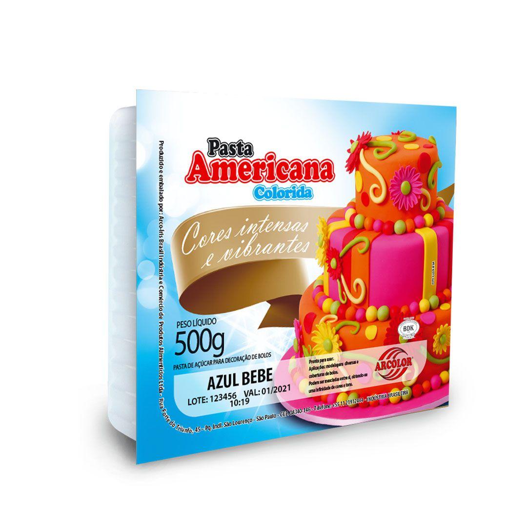 PASTA AMERICANA ARCOLOR - 500G AZUL BEBE