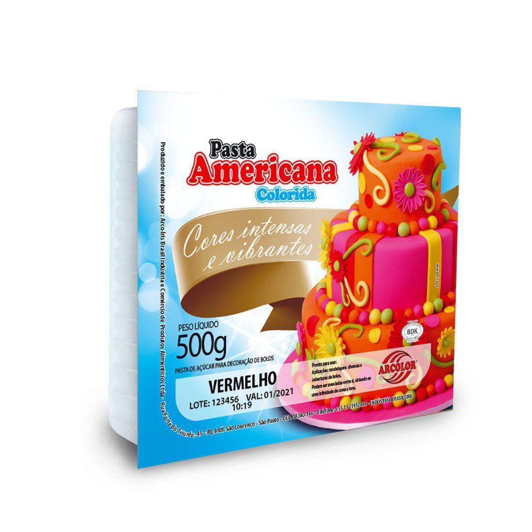 PASTA AMERICANA ARCOLOR-500G VERMELHA