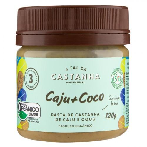 PASTA DE CASTANHA DE CAJU E COCO 120G