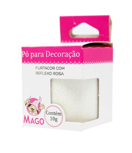 PO P/ DECORAÇÃO FURTACOR COM REFLEXO ROSA 10G MAGO