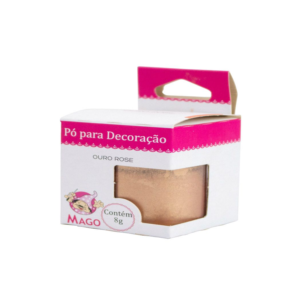 PO P/ DECORACAO OURO ROSE 8G