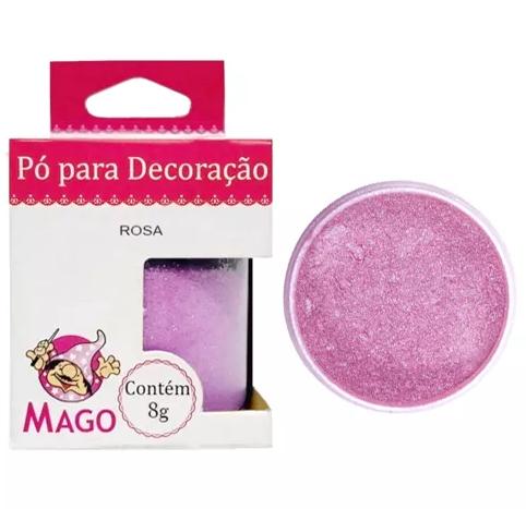 PO P/ DECORACAO ROSA 10G MAGO