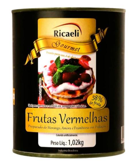 PREPARO DE FRUTAS VERMELHAS 1,02kg