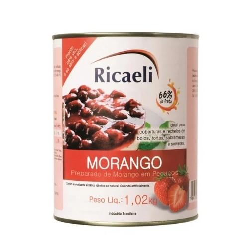 PREPARADO DE MORANGO 1,02KG RICAELI