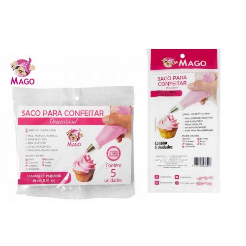 SACO PARA CONFEITAR DESCARTÁVEL 5 UND MAGO