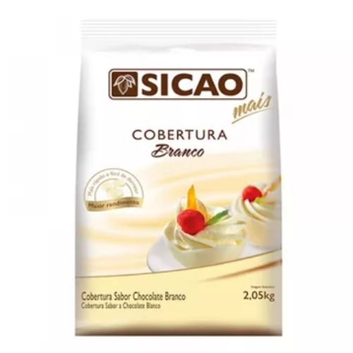 SICAO COBERTURA  FACIL DERRETIMENTO SABOR CHOCOLATE BRANCO GOTAS 2,05KG