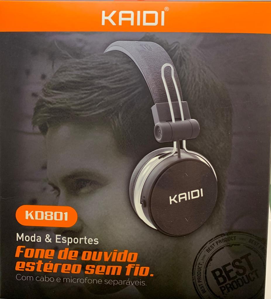Fone de Ouvido Estéreo Sem Fio KAIDI Bluetooth