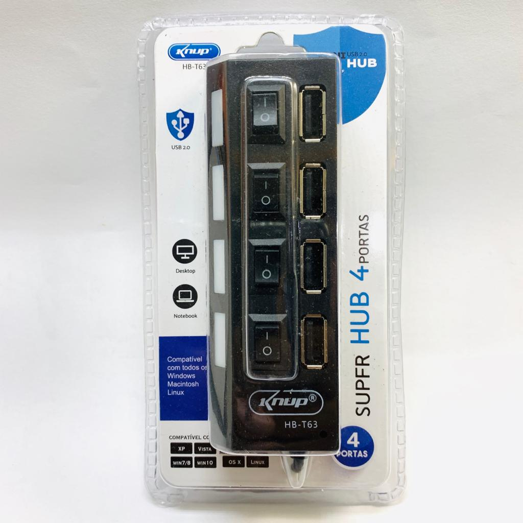 HUB USB 2.0 4 PORTAS