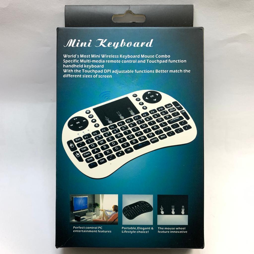 Mini Keyboard Wireless com touchpad